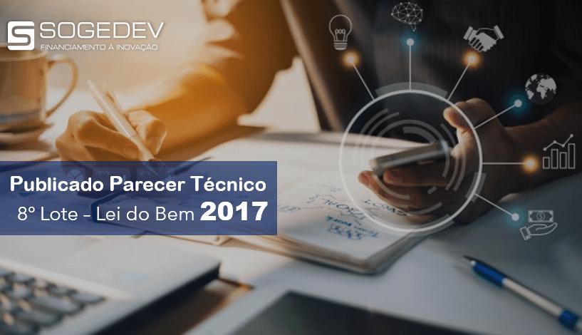 Publicado Parecer Técnico – 8° Lote – Lei Do Bem 2017